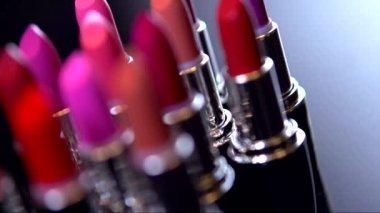 Fashion Colorful Lipsticks — Stock Video