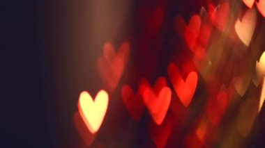 Valentine Hearts Background. — Stock Video