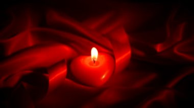 Valentines Heart Candle — Stok video