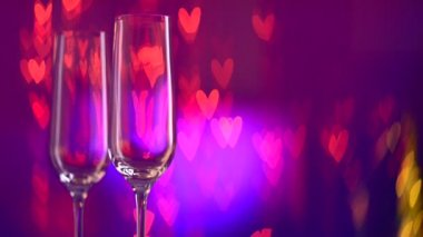 Two Champagne Glass — Stock Video