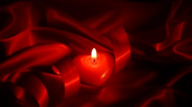 Valentines Hearts Candle — Stock Video