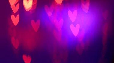 Valentine Hearts Background. — Stock Video