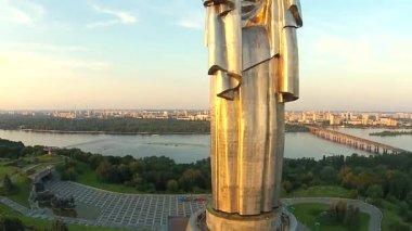 Mother Motherland in  Kiev City — Stock Video