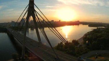 莫斯科桥梁在第聂伯河 — 图库视频影像
