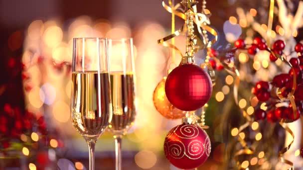 Año nuevo y Navidad — Vídeo de stock