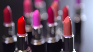 Fashion Colorful Lipsticks — Stock Video
