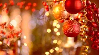 Decoraciones de Navidad y año nuevo — Vídeo de Stock
