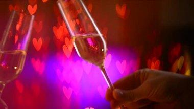 Valentine's Day Celebrating — Stock Video