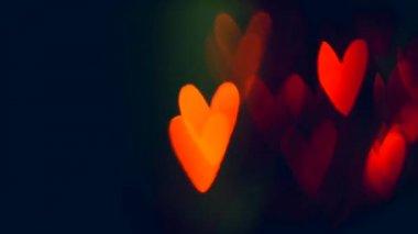 Valentine Hearts  Background — Stock Video