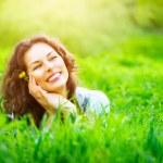 Woman outdoors enjoying nature — Stock Photo #80040110