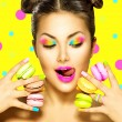 Girl with colourful makeup — Stock Photo #80042810