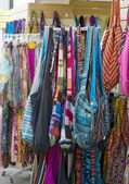 Bags in street shop. — Stock Photo