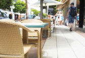 Summer cafe in street. — Stock Photo