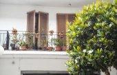 Balkon w domu. — Zdjęcie stockowe