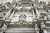 Details of the  facade of the Cathedral of Girona — Stock Photo