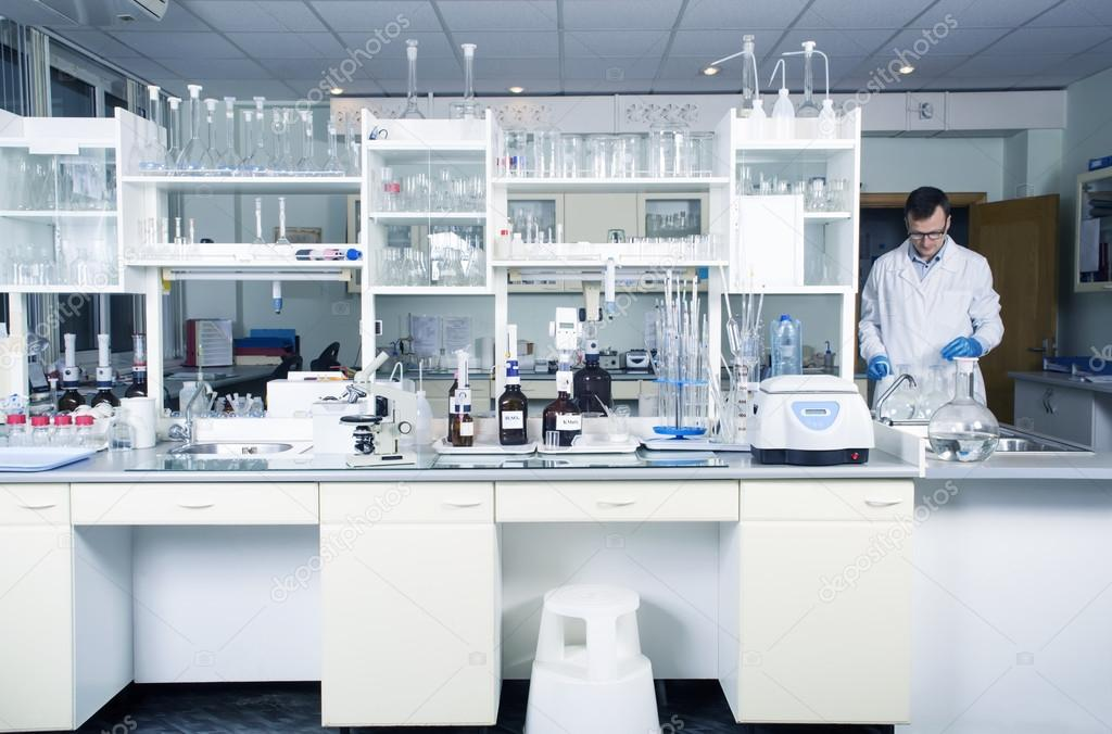 Laboratory background for Modern cleaning concept