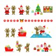 Santa Claus and Reindeer, prepare for Christmas — Stock Vector #59596385