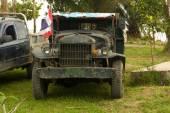 Staré vojenské nákladní automobil — Stock fotografie