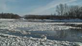 Freezing of river — Stock Photo