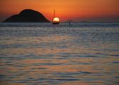 Sunset on Itaipu Beach — Stock Photo