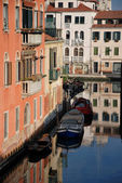 Venice city buildings reflections — Stock Photo