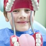 Boy at the dentist — Stock Photo