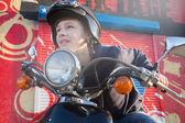 Motorbiker — Stock Photo
