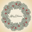 Vector Christmas wreath frame — Vector de stock  #56412323