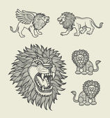 Lion pattern decoration — Stock Vector