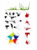 Splash grunge artistic vector — Stock Vector