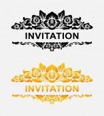 Invitation floral ornament decoration — Stock Vector