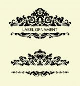 Label ornament 1 — Stock Vector