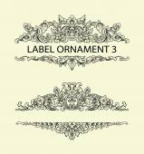 Label ornament floral decoration 3 — Stockvektor