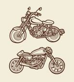 Motorbike sketch 2 — Stock Vector