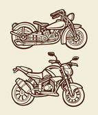 Motorbike sketch 4 — Stock Vector