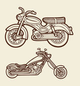 Motorbike sketch 5 — Stock Vector