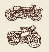 Motorbike sketch 1 — Stock Vector
