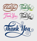 Thank you swirl typography vector — Stock Vector