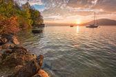 Lago attersee — Foto de Stock