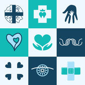 Medical icons vector set — Stock Vector