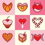 Постер, плакат: Sweets icons vector set