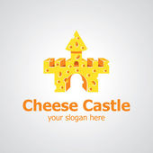 Cheese castle vector logo design — Vettoriale Stock