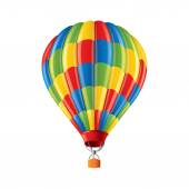 Colored balloon isolated on white vector — Stock Vector