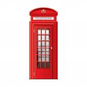 London phone booth isolated on white vector — Stock Vector