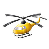 Helicopter isolated on white vector — Stock Vector