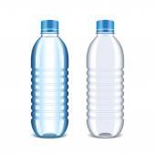 Plastic bottle for water isolated on white vector — Stock Vector