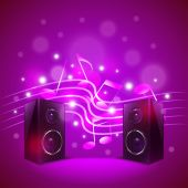 Speakers on colorful blur background vector — Stock Vector