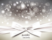 Holiday background with magic stars and silk bow — Cтоковый вектор