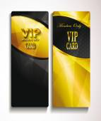 Vip elegant gold and black cards — Vector de stock