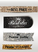 Best Seller and the best Quality textured labels — Stock Vector